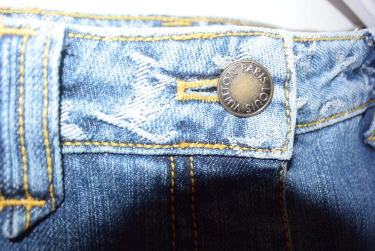Louis Vuitton Jeans Rock blau-11769