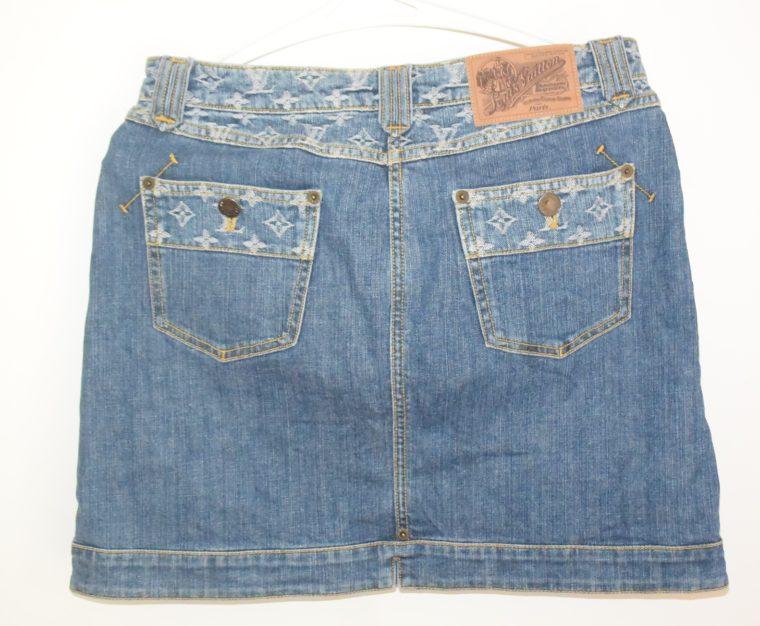 Louis Vuitton Jeans Rock blau-11770