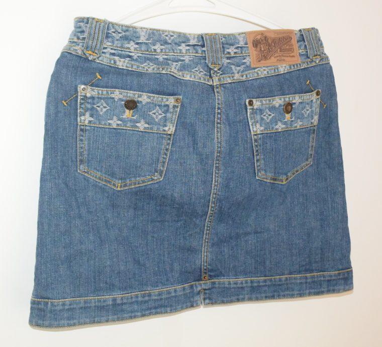 Louis Vuitton Jeans Rock blau-11771
