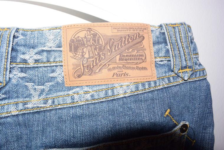 Louis Vuitton Jeans Rock blau-11772