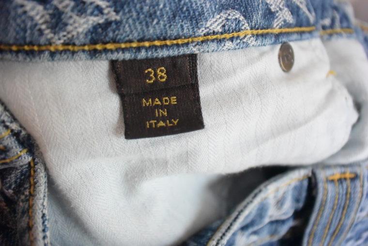 Louis Vuitton Jeans Rock blau-11773