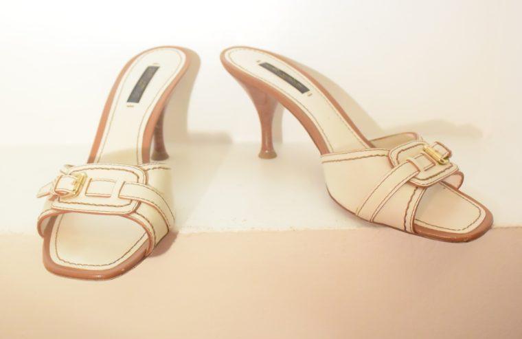 Louis Vuitton Schuhe Pumps weiss Leder 37-11867