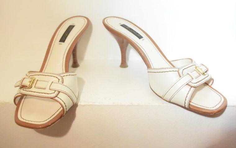 Louis Vuitton Schuhe Pumps weiss Leder 37-11865