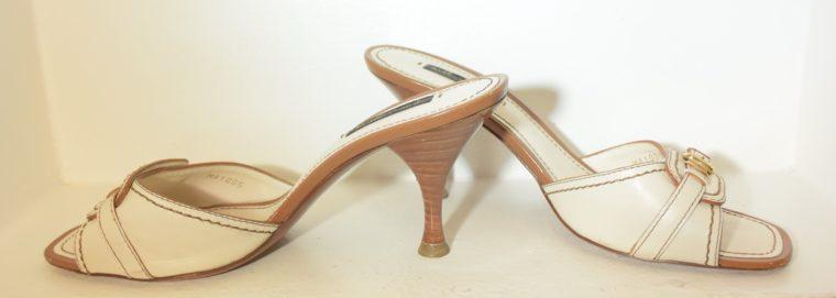 Louis Vuitton Schuhe Pumps weiss Leder 37-11866