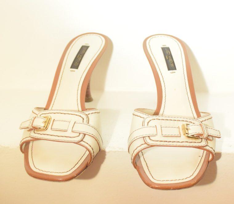 Louis Vuitton Schuhe Pumps weiss Leder 37-11868