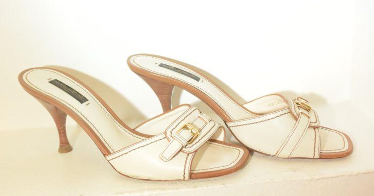 Louis Vuitton Schuhe Pumps weiss Leder 37-0