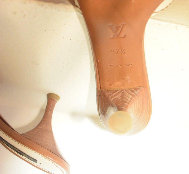 Louis Vuitton Schuhe Pumps weiss Leder 37-11872