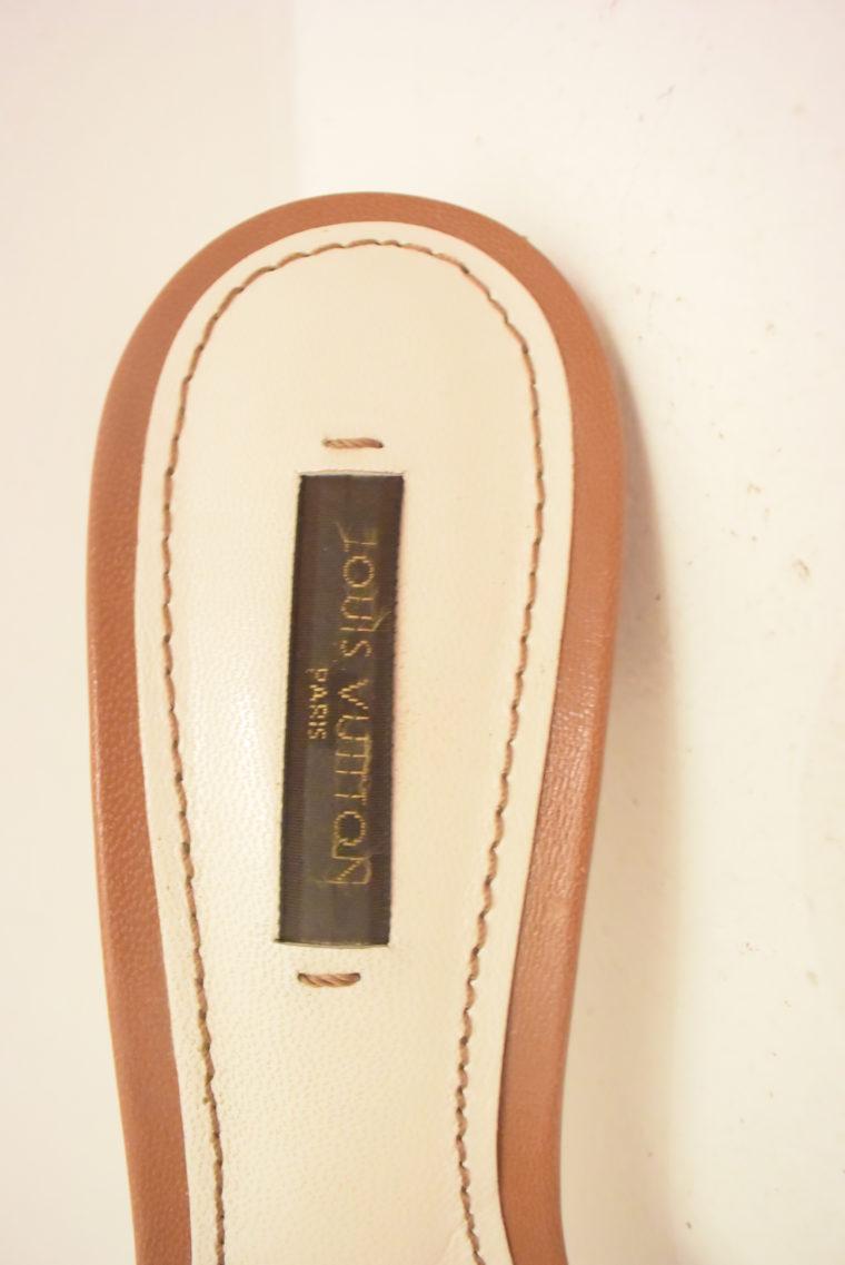 Louis Vuitton Schuhe Pumps weiss Leder 37-11874