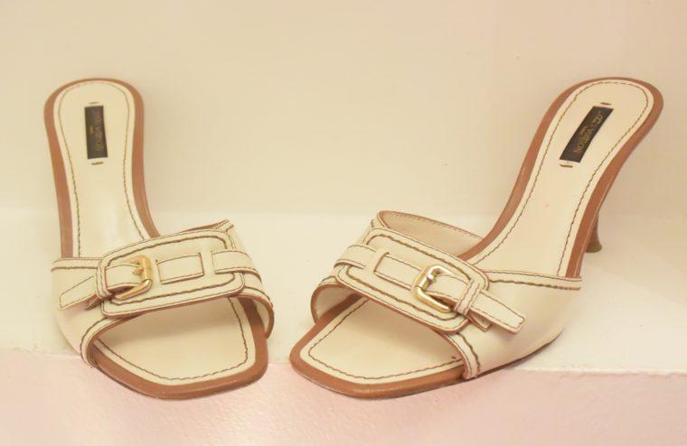 Louis Vuitton Schuhe Pumps weiss Leder 37-11875