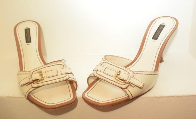 Louis Vuitton Schuhe Pumps weiss Leder 37-11876