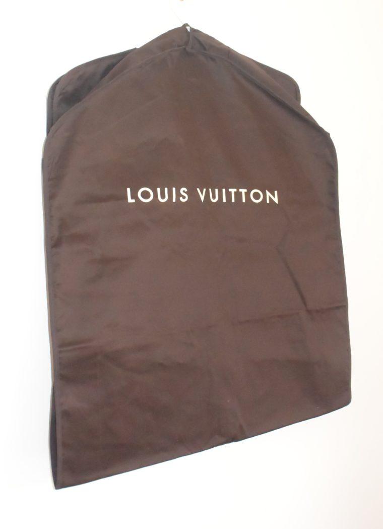 Louis Vuitton Kleidersack Kleiderhülle braun Stoff lang-11858