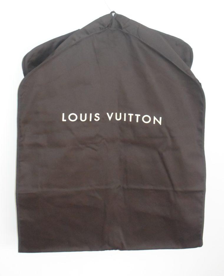 Louis Vuitton Kleidersack Kleiderhülle braun Stoff lang-11860