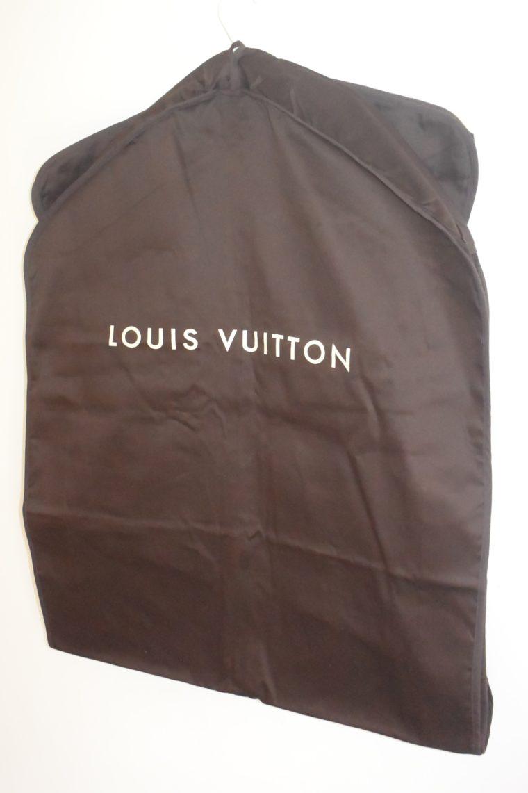 Louis Vuitton Kleidersack Kleiderhülle braun Stoff lang-11859
