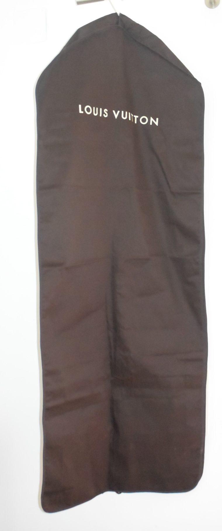 Louis Vuitton Kleidersack Kleiderhülle braun Stoff lang-0
