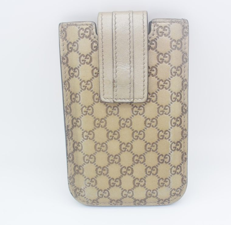 Gucci Handyetui beige gold-11884
