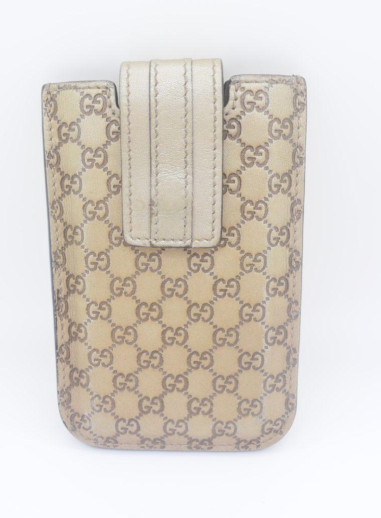 Gucci Handyetui beige gold-0