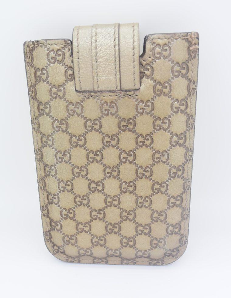 Gucci Handyetui beige gold-11886