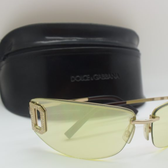 Dolce & Gabbana Sonnenbrille  D&G silber inklusive Etui