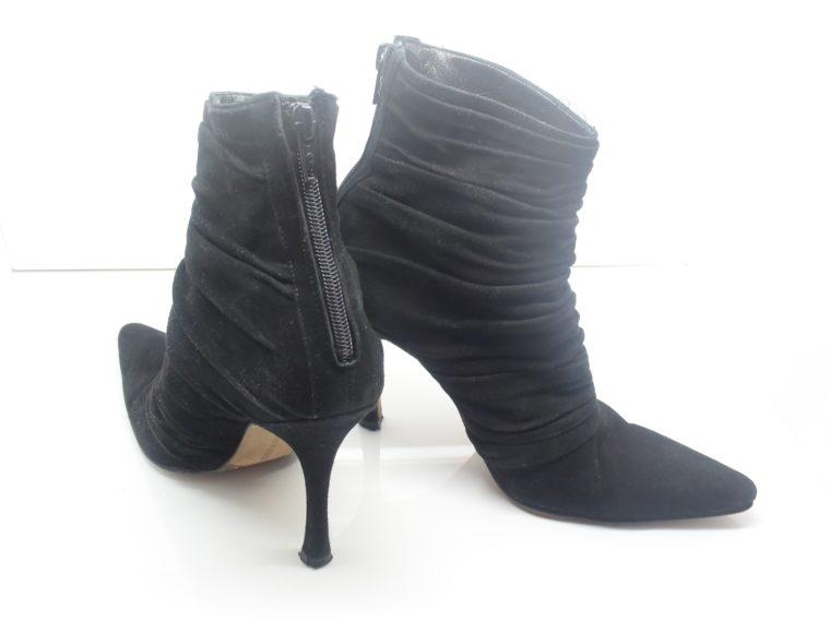 Manolo Blahnik Stiefel Stiefletten schwarz 37-12400