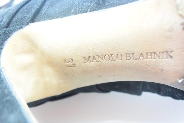 Manolo Blahnik Stiefel Stiefletten schwarz 37-12403