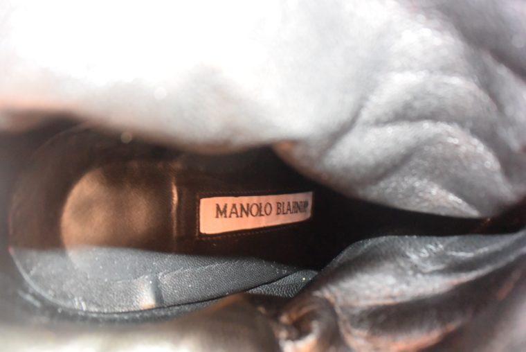 Manolo Blahnik Stiefel Stiefletten schwarz 37-12404