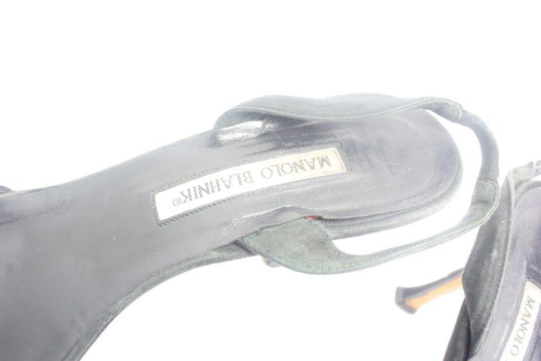 Manolo Blahnik Schuhe Pumps schwarz 37-12410