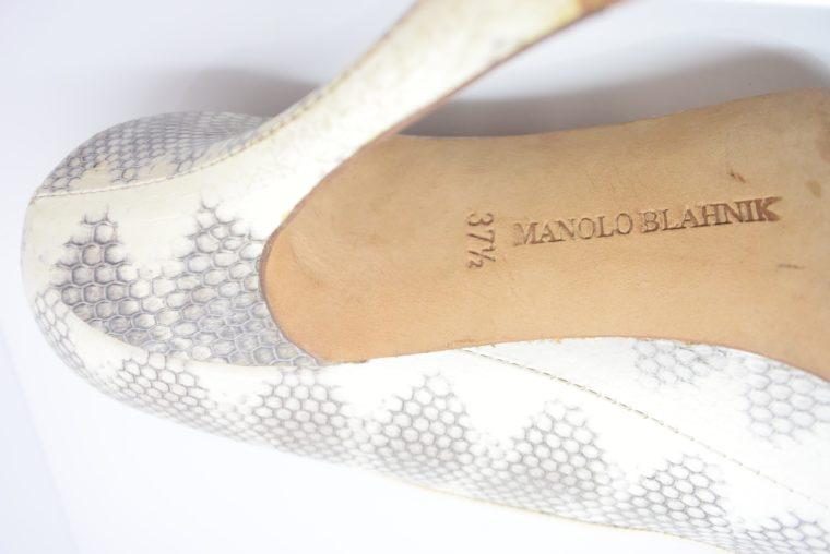 Manolo Blahnik Schuhe Pumps Schlange 37-12429
