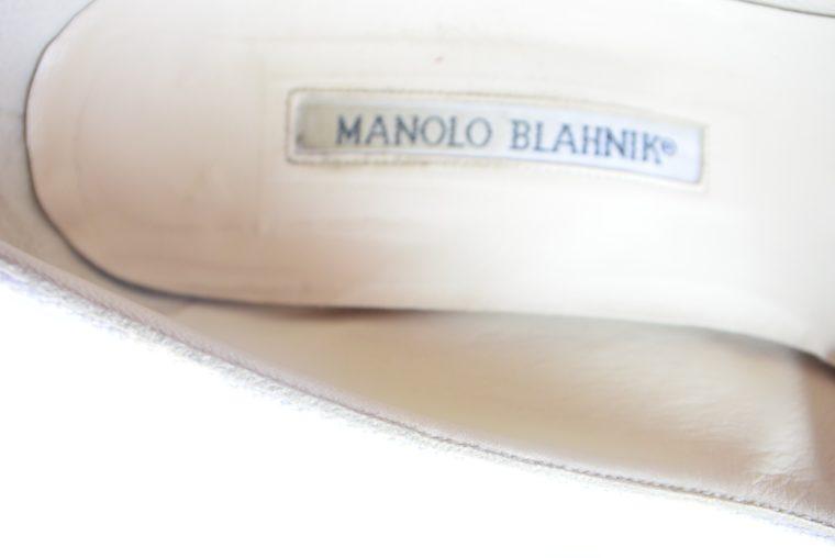 Manolo Blahnik Schuhe Pumps weiss blau 37-12433