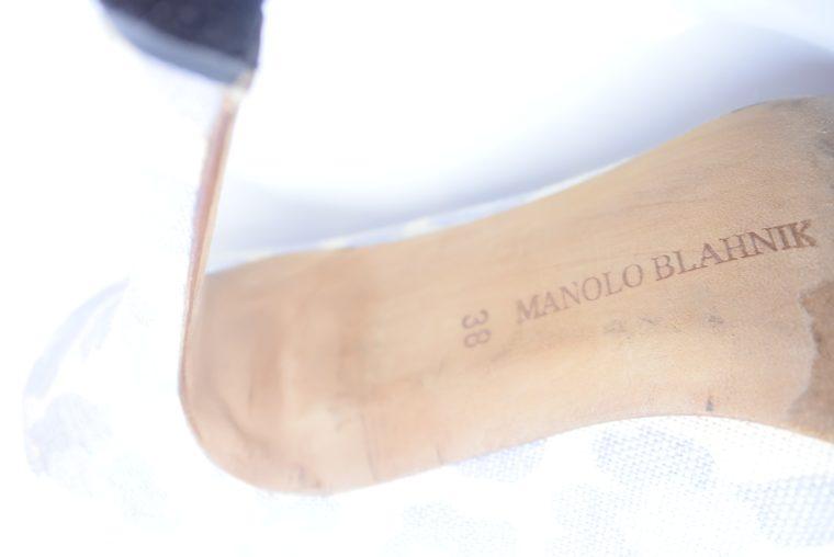 Manolo Blahnik Schuhe Pumps weiss blau 37-12435