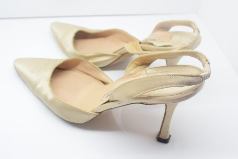 Manolo Blahnik Schuhe Pumps gold 37-12436