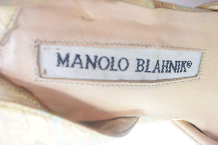 Manolo Blahnik Schuhe Pumps gold Muster 37-12447