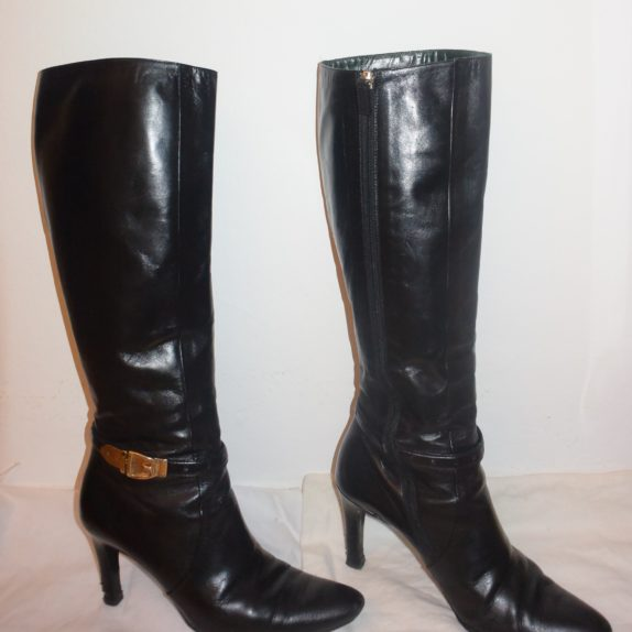 Gucci Stiefel schwarz Leder 38