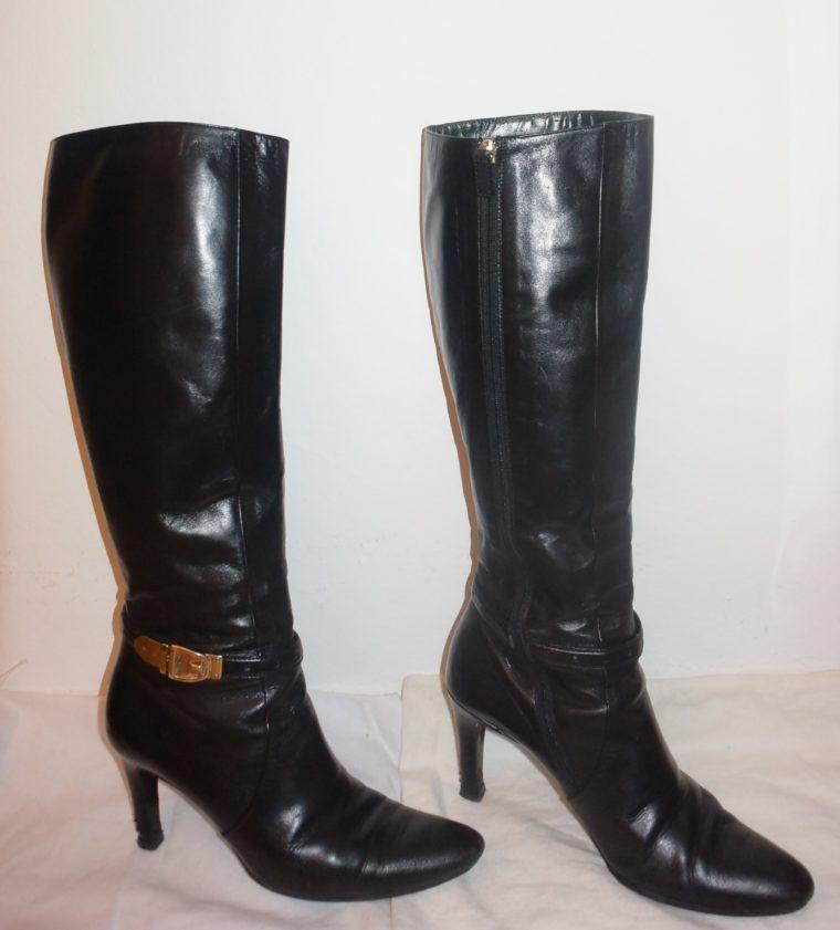 Gucci Stiefel schwarz Leder 38-0