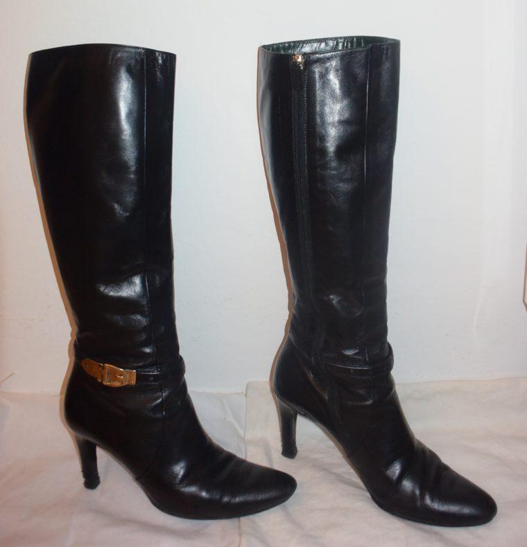 Gucci Stiefel schwarz Leder 38-12474