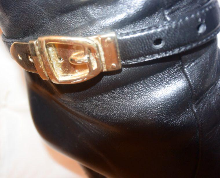 Gucci Stiefel schwarz Leder 38-12476