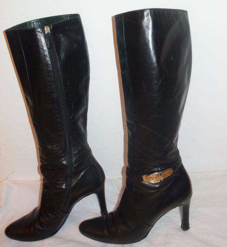 Gucci Stiefel schwarz Leder 38-12477