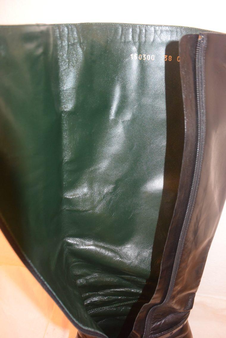 Gucci Stiefel schwarz Leder 38-12479