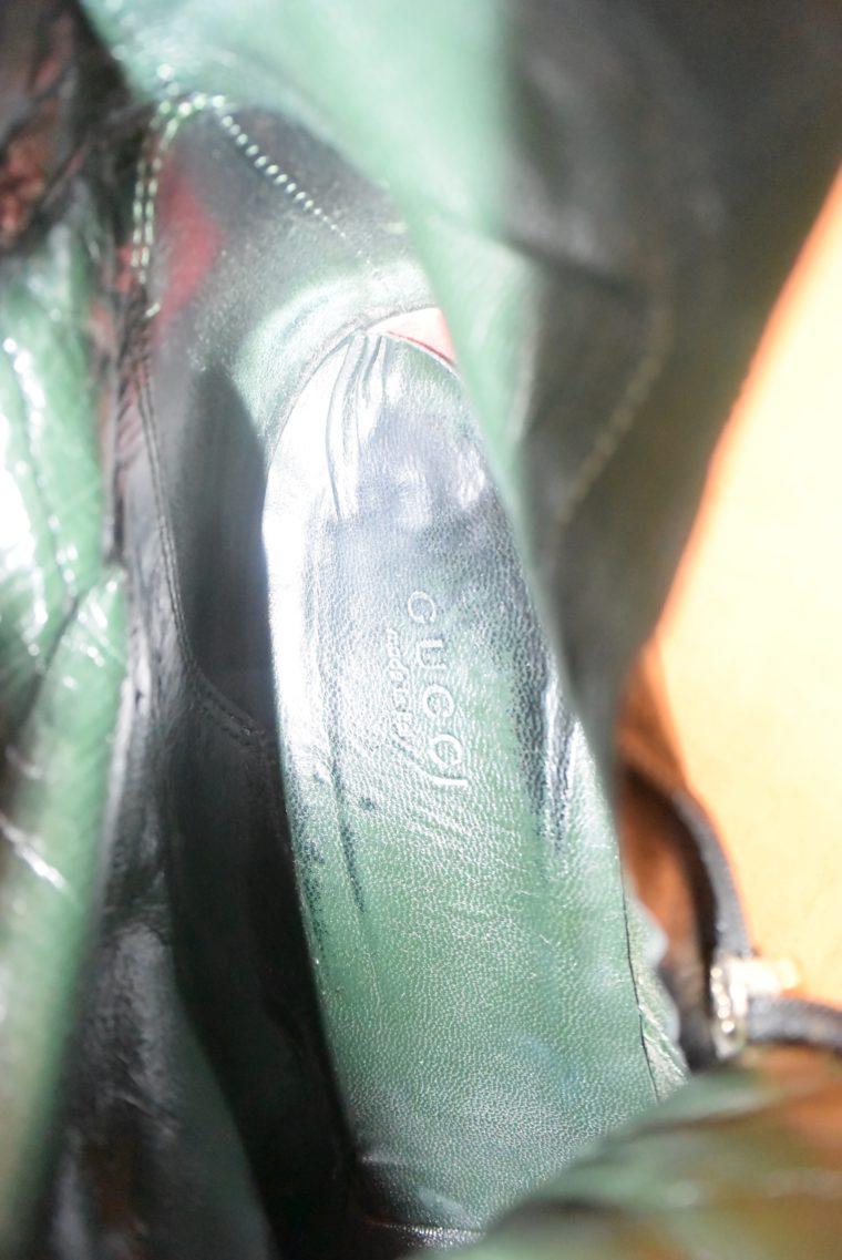 Gucci Stiefel schwarz Leder 38-12480
