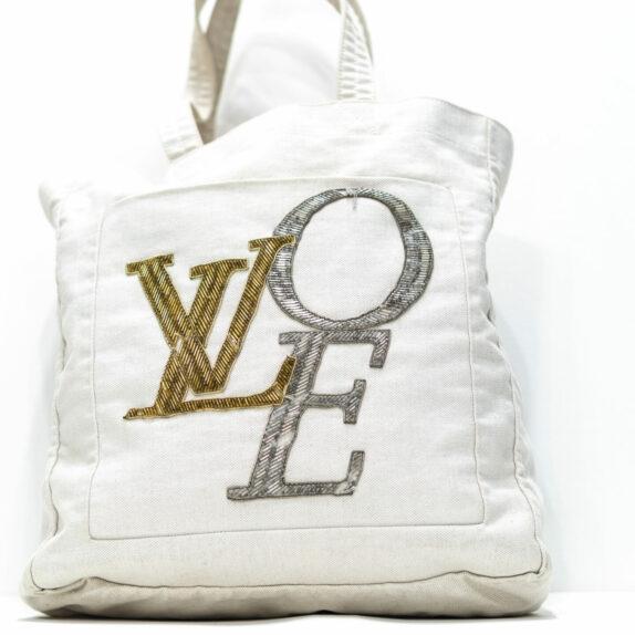 Louis Vuitton Tasche weiß Love