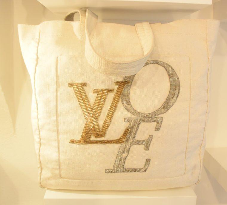 Louis Vuitton Tasche weiß Love-12754