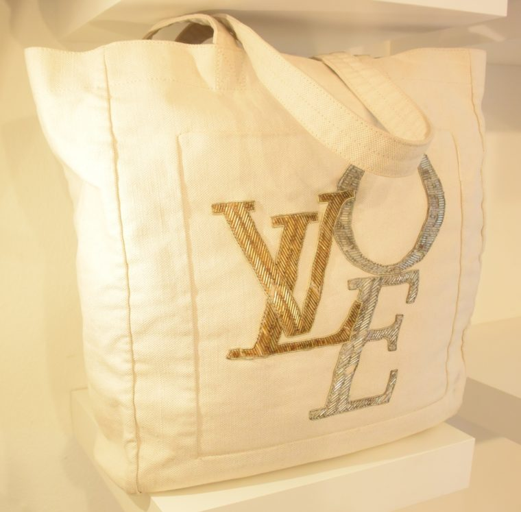 Louis Vuitton Tasche weiß Love-12753