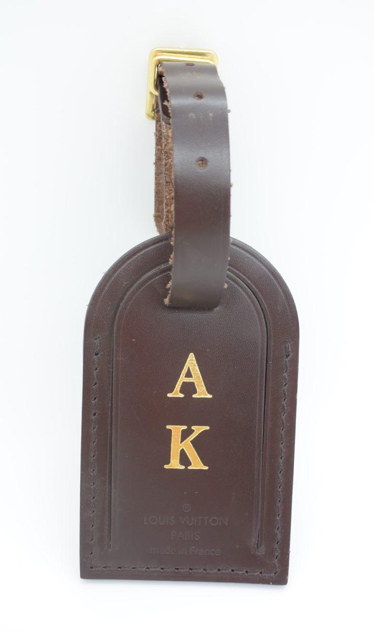 Louis Vuitton Adressanhänger braun A K-12908