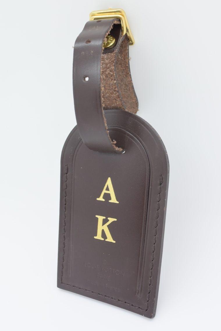 Louis Vuitton Adressanhänger braun A K-0