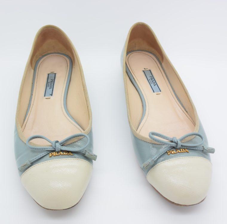 Prada Ballerinas blau 37-0