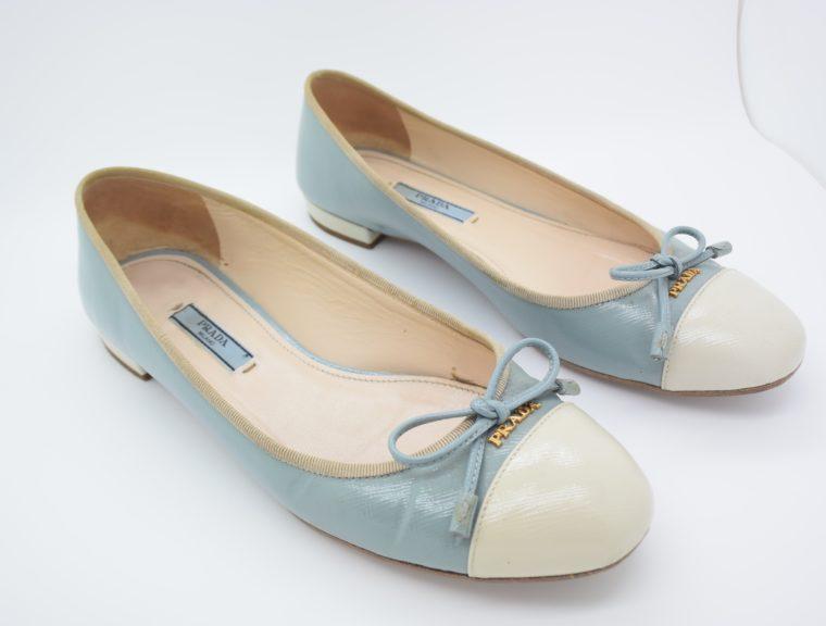 Prada Ballerinas blau 37-13099