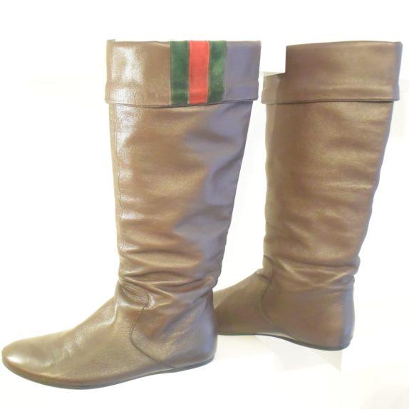 Gucci Stiefel braun Leder 38