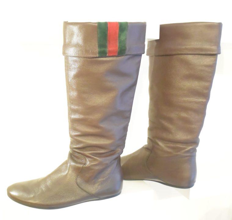 Gucci Stiefel braun Leder 38 -0