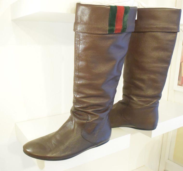 Gucci Stiefel braun Leder 38 -13402