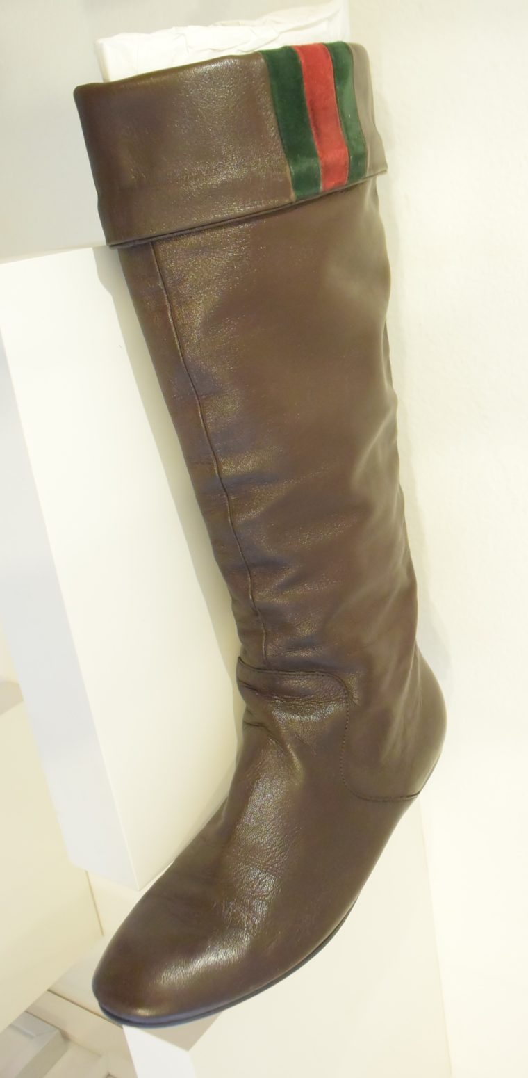 Gucci Stiefel braun Leder 38 -13400