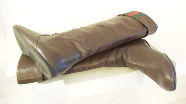 Gucci Stiefel braun Leder 38 -13404